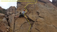 Rock Climbing Photo: Just starting Abacab (5.7) which is the farthest l...