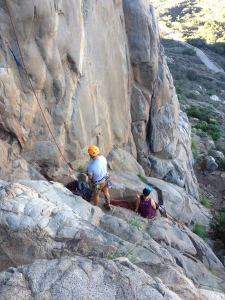 Rock Climbing Photo: Alternate belay station that risks less of a &quot...