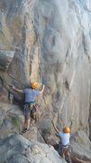 Rock Climbing Photo: First clip of Suzie's is not so much climbing as a...