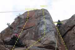 Rock Climbing Photo: Decent shot of As the Crow Flies 5.8 (red rope cli...
