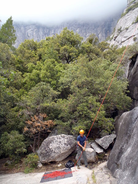 Rock Climbing Photo: The giant ledge that you have as a belay station f...
