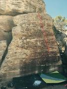 Rock Climbing Photo: Beta for Verging on Adequate.