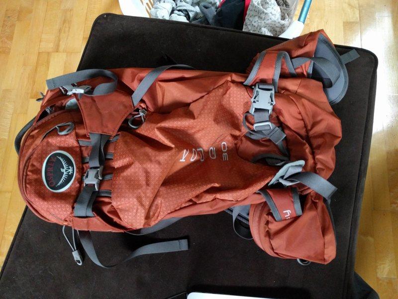 Rock Climbing Photo: Osprey Pack