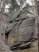 Rock Climbing Photo: Boulder up and left of the Brick Wall. This is nea...
