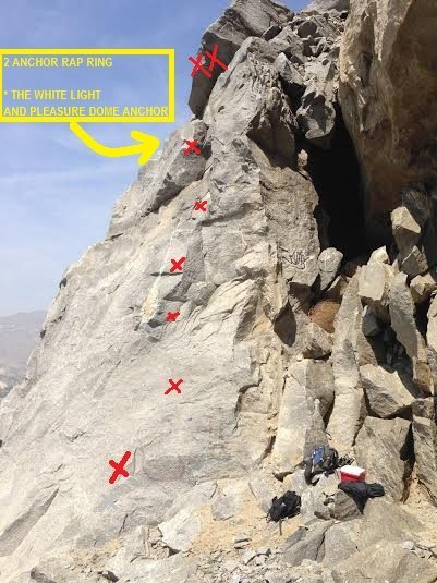 Rock Climbing Photo: 6 bolts to a 2 bolt anchor