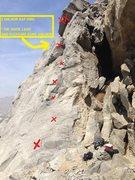 Rock Climbing Photo: 6 bolts to a 2 bolt anchor