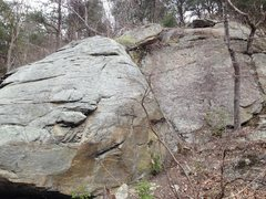 Rock Climbing Photo: Right side of the 1st boulder coming down from the...