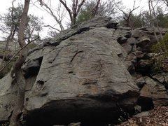 Rock Climbing Photo: This is the 2nd boulder from the left when coming ...