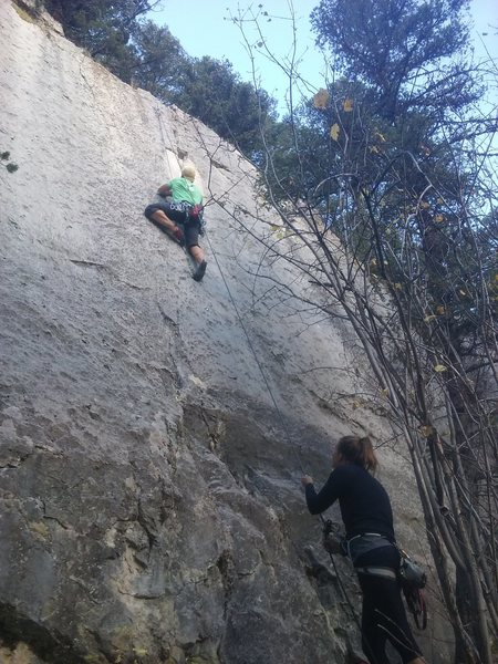 Rock Climbing Photo: Michael on Schism