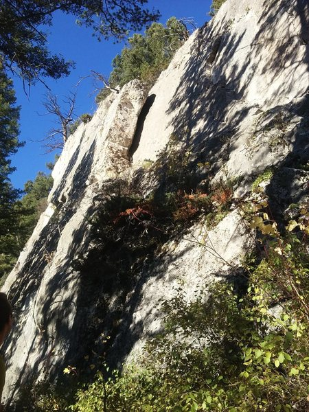 Rock Climbing Photo: Boundary Line Fin area
