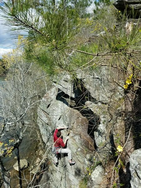 Haven (5.10 a/b), Palisades/Whitewater Creek Trail.