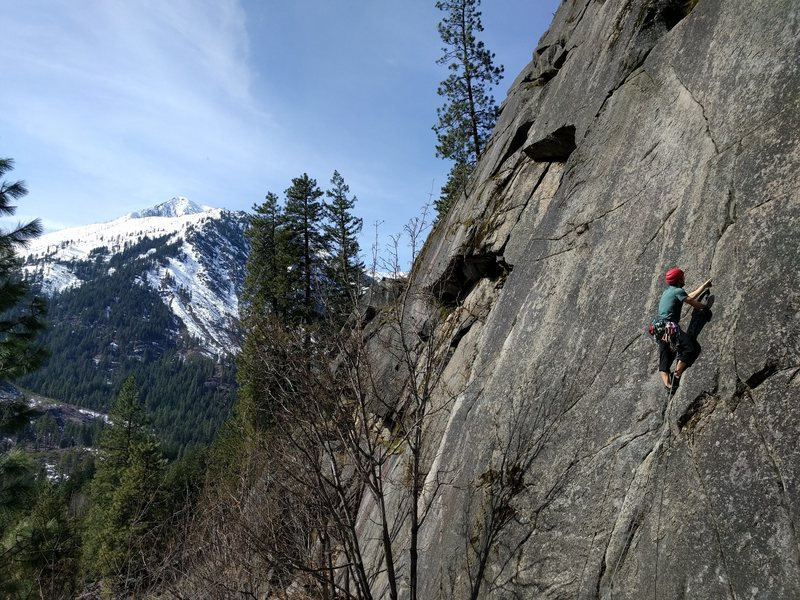 Rock Climbing Photo: On Armed Forces Crack.