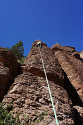 Rock Climbing Photo: Fun route for this beginner.