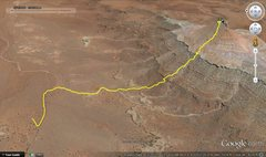 Rock Climbing Photo: A graphical track of Ken Trout's suggested route. ...