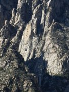 Rock Climbing Photo: Tram going up from the second tower, taken from Ch...