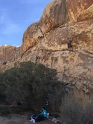 Rock Climbing Photo: Eugene trying to find the most difficult way up th...