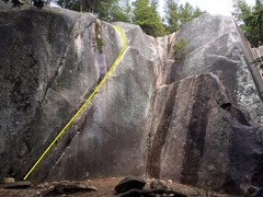 Rock Climbing Photo: Joe's Crack Topo