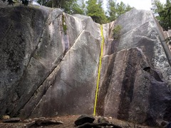 Rock Climbing Photo: Davy Jones' Locker Topo