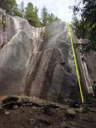 Rock Climbing Photo: Weiner in the Bun Topo