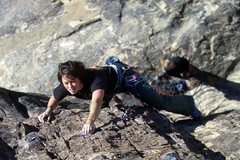Rock Climbing Photo: shaina on her first 10a lead