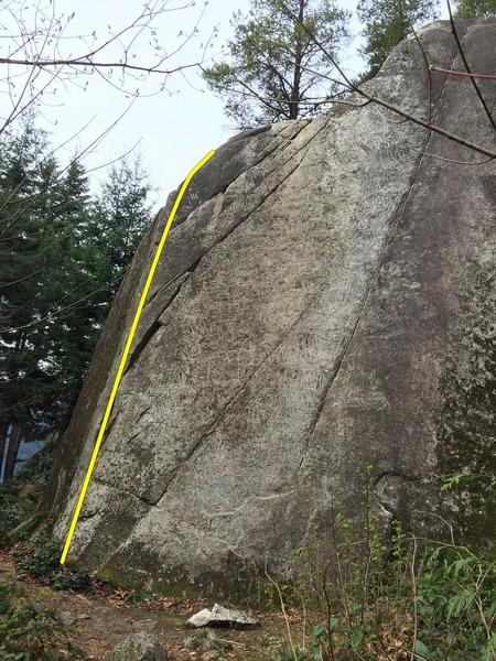 Rock Climbing Photo: Little Feat Topo