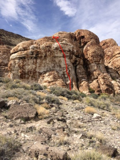 Rock Climbing Photo: Two or three formations to the right of Old in the...