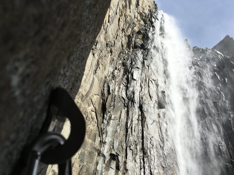 Rock Climbing Photo: View from Pitch 2 belay.