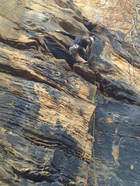 Rock Climbing Photo: Mikey setting cruise control just over the speed l...