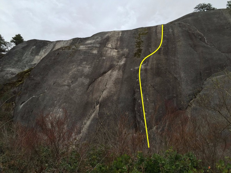 Rock Climbing Photo: Peaches and Cream Topo