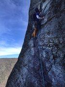 Rock Climbing Photo: BTM starting up P2 ...