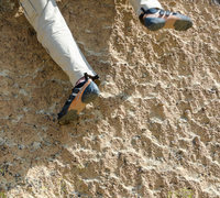 Rock Climbing Photo: Pop goes the nubbin'. Climb is tough on the toes.
