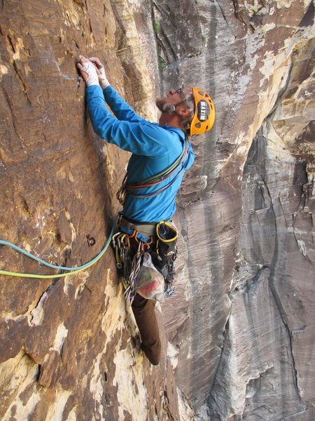 Rock Climbing Photo: one of several traverses, this is an FA bolt not w...