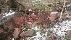 Rock Climbing Photo: Rock landing