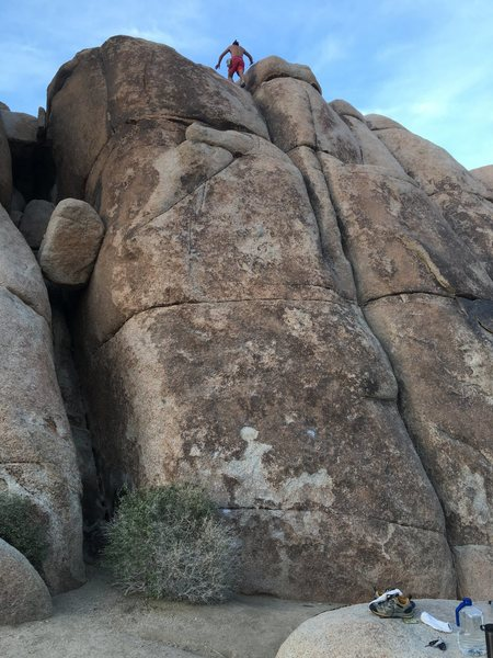 Rock Climbing Photo: my friend Alexis demonstrating crack climbing.  In...