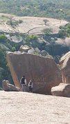 Rock Climbing Photo: Taggin' dat rock, yo!