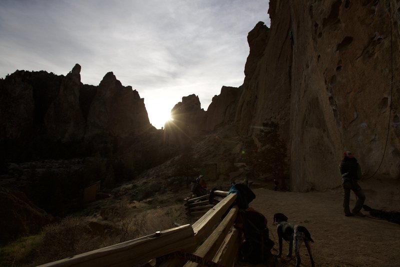 Rock Climbing Photo: Main wall at Smith Rock