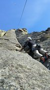Rock Climbing Photo: Kwasi heading up Mush Maker
