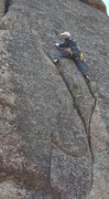 Rock Climbing Photo: Fun double crack just before going into the wide s...