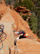 Rock Climbing Photo: Nate, final moves on P2