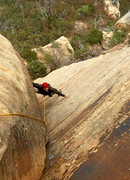 Rock Climbing Photo: Mike on a casual P1