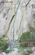 Rock Climbing Photo: Upper virgin canyon, El Potrero Chico