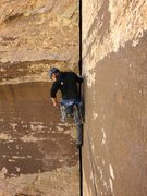 Rock Climbing Photo: James starting up Our Father, Pitch 3.