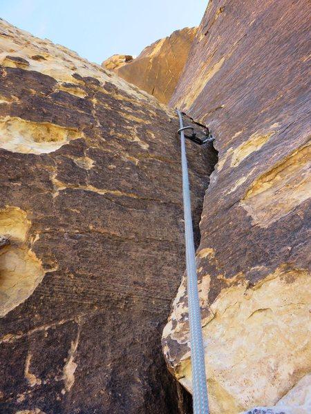 Fun climbing on Pitch 2 of Black Orpheus.