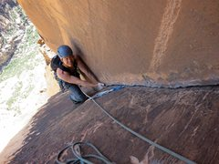 "Rock Climbing Photo: The ""5.6"" corner on Pitch 10 of  Black O..."