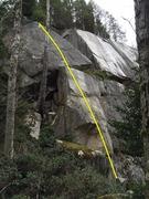 Rock Climbing Photo: Pussy's Galore Topo