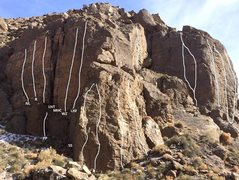 Rock Climbing Photo: Updated topo for Pink Face/Big Tower areas
