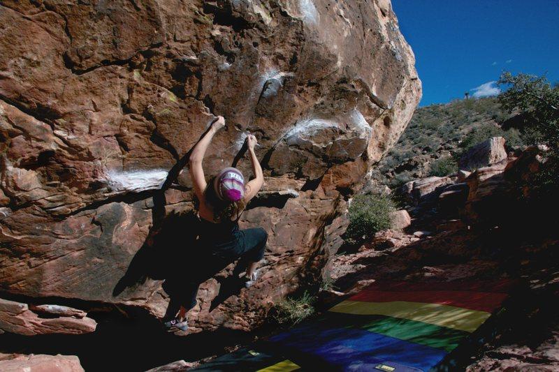 Rock Climbing Photo: Short person beta! 2016