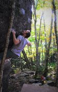 "Rock Climbing Photo: Chris Grasinger sizing up the next move on ""E..."