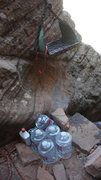 Rock Climbing Photo: Grill Repaired by my partner and extra water and c...