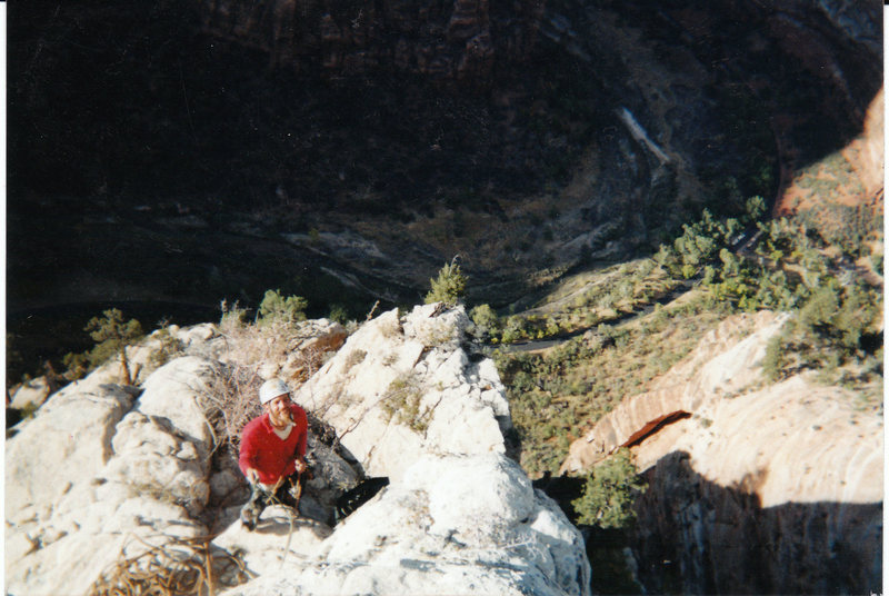 Rock Climbing Photo: Top of the pulpit. Scary soft white rock!